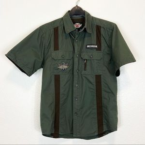 Harley Davidson Short Sleeve Button Up Small